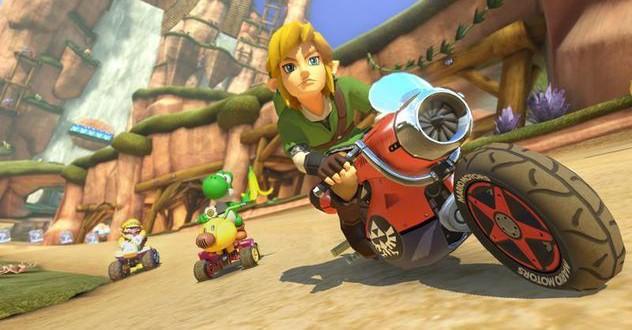 Mario Kart 8 med Link