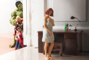 Riktigt sköna och roliga bilder på superhjältar tillsammans – Hot Toys figurer