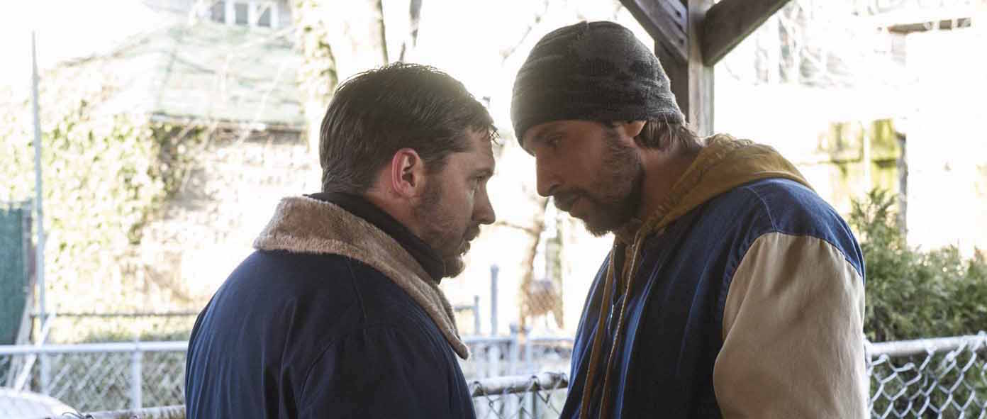 Tom Hardy as ÒBobÓ and Matthias Schoenaerts as ÒEric DeedsÓ in THE DROP. Photo by Barry Wetcher. Copyright © 2014 Twentieth Century Fox.